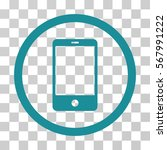 smartphone rounded icon. vector ... | Shutterstock .eps vector #567991222