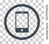 smartphone rounded icon. vector ... | Shutterstock .eps vector #567992632