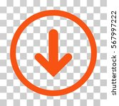 arrow down rounded icon. vector ... | Shutterstock .eps vector #567997222