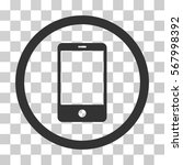 smartphone rounded icon. vector ... | Shutterstock .eps vector #567998392