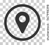 map marker rounded icon. vector ... | Shutterstock .eps vector #567998398