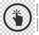 click rounded icon. vector...
