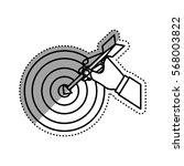 target dartboard symbol icon...   Shutterstock .eps vector #568003822