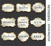 luxury premium pearl white and... | Shutterstock .eps vector #568006186