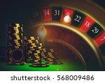 roulette casino games concept... | Shutterstock . vector #568009486