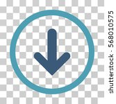 arrow down rounded icon. vector ... | Shutterstock .eps vector #568010575