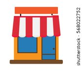 storefront icon on white... | Shutterstock .eps vector #568022752