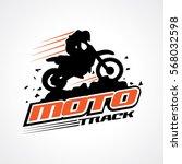 moto track logo | Shutterstock .eps vector #568032598