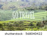 go travel concept with bali's... | Shutterstock . vector #568040422
