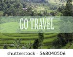 go travel concept with bali's... | Shutterstock . vector #568040506