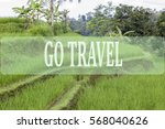 go travel concept with bali's... | Shutterstock . vector #568040626