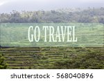 go travel concept with bali's... | Shutterstock . vector #568040896