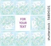 nice pattern from beauty flowers | Shutterstock .eps vector #56804101