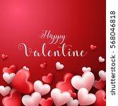happy valentines day background ... | Shutterstock . vector #568046818