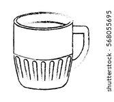 contour coffee cuppa design...   Shutterstock .eps vector #568055695