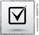 Check Mark Sign Icon  Vector...