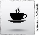 coffee cup sign icon  vector... | Shutterstock .eps vector #568064098
