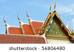 Chofah, is one of the Thai architectural decorative ornament. - stock photo