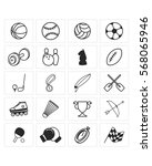 sport equipment icon set | Shutterstock .eps vector #568065946