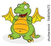 dragon cartoon drawings | Shutterstock .eps vector #568069672