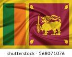 sri lanka flag with fabric... | Shutterstock . vector #568071076