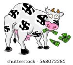 cash cow cartoon drawings | Shutterstock .eps vector #568072285