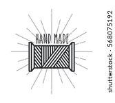 emblem of hand made concept... | Shutterstock .eps vector #568075192