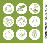 natural and ecology icon set... | Shutterstock .eps vector #568076842