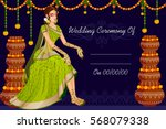 vector design of indian woman... | Shutterstock .eps vector #568079338