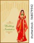 vector design of indian woman... | Shutterstock .eps vector #568079542