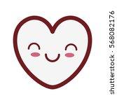 kawaii heart love romance... | Shutterstock .eps vector #568082176