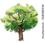 watercolor tree | Shutterstock . vector #568088536