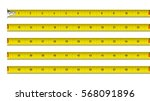 tape measure in inches vector... | Shutterstock .eps vector #568091896