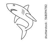 great white shark icon in... | Shutterstock .eps vector #568094782