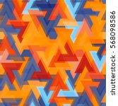 colored futurist seamless... | Shutterstock .eps vector #568098586