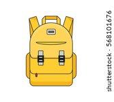 schoolbag flat illustration.... | Shutterstock .eps vector #568101676