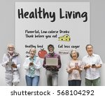 healthy living lifestyle well... | Shutterstock . vector #568104292