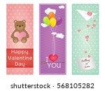 valentine greeting cards design | Shutterstock .eps vector #568105282