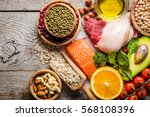 selection of food that is good... | Shutterstock . vector #568108396