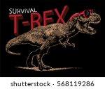 T Rex Illustration Vector.