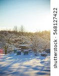 Winter Rural Landscape With A...