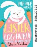 easter egg hunt template vector ... | Shutterstock .eps vector #568127926