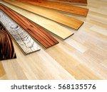 new planks of oak parquet of... | Shutterstock . vector #568135576