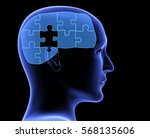 memory loss. human profile and... | Shutterstock . vector #568135606