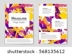 abstract vector layout... | Shutterstock .eps vector #568135612