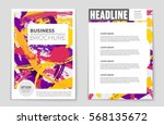 abstract vector layout...   Shutterstock .eps vector #568135672