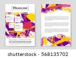 abstract vector layout... | Shutterstock .eps vector #568135702