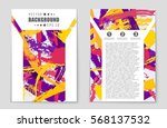 abstract vector layout... | Shutterstock .eps vector #568137532