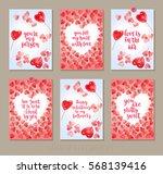 set valentine's day greeting... | Shutterstock .eps vector #568139416