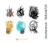 scribble line design art... | Shutterstock .eps vector #568148725